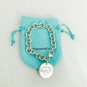 "Tiffany & Co. | Round Tag Return Charm Bracelet 7"""